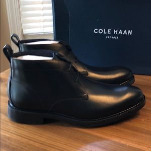 Brand new still in the box Cole Haan chukkas